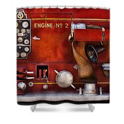 Fireman - Old Fashioned Controls Shower Curtain by Mike Savad