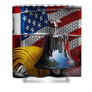 Fireman - Red Hot  Shower Curtain by Mike Savad