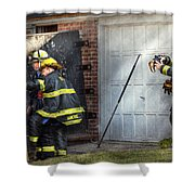 Fireman - Take All Fires Seriously  Shower Curtain by Mike Savad