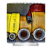 Fireman - The Fire Hose Shower Curtain by Paul Ward