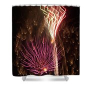 Fireworks Shower Curtain by Aimee L Maher Photography and Art Visit ALMGallerydotcom