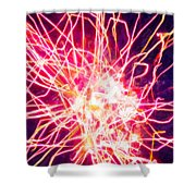Fireworks At Night 6 Shower Curtain by Lanjee Chee