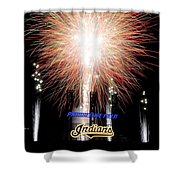 Fireworks Finale Shower Curtain by Frozen in Time Fine Art Photography