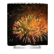 Fireworks IIi Shower Curtain by Tiffany Erdman