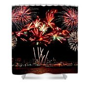 Fireworks Over The Delaware Shower Curtain by Nick Zelinsky