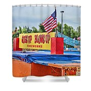 Fireworks Stand Shower Curtain by Cathy Anderson