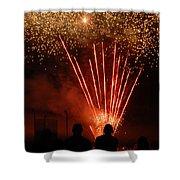Fireworks Shower Curtain by Vonnie Murfin