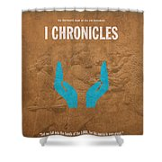 First Chronicles Books Of The Bible Series Old Testament Minimal Poster Art Number 13 Shower Curtain by Design Turnpike