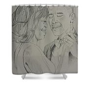 First Dance Shower Curtain by DMo Herr