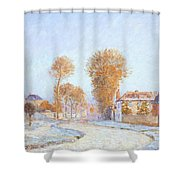 First Frost Shower Curtain by Alfred Sisley