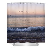 First Light On Ma'alaea Bay Shower Curtain by Trever Miller