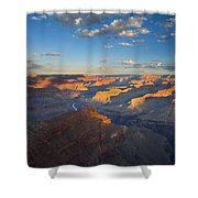 First Light On The Colorado Shower Curtain by Mike  Dawson