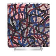 Fish Net Design Shower Curtain by Barbara St Jean