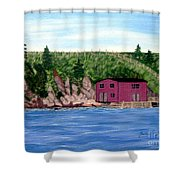 Fishing Gear Stage Shower Curtain by Barbara Griffin