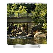 Fishing In Deer Creek Shower Curtain by James Eddy