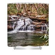 Fishing Mill Creek Falls In West Virginia Shower Curtain by Dan Friend