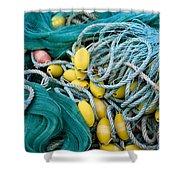 Fishing Nets Shower Curtain by Frank Tschakert