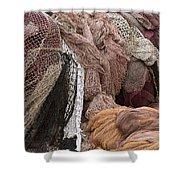 Fishnets Shower Curtain by Frank Tschakert