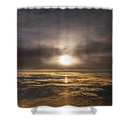 Five and a Half mile Sunset Shower Curtain by Richard Reeve