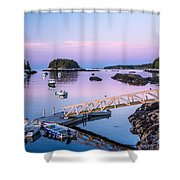 Five Islands Dawn Shower Curtain by Susan Cole Kelly
