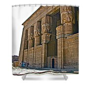 Five Thousand Year Old Temple Of Hathor In Dendera- Egypt Shower Curtain by Ruth Hager