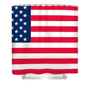 Flag Of The United States Of America Shower Curtain by Anonymous