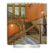 Flagler College Entryway Shower Curtain by Rich Franco
