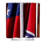 Flags Of The North And South Shower Curtain by Joe Kozlowski