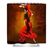 Flamenco Dancer 0013 Shower Curtain by Catf