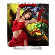 Flamenco Dancer 010 Shower Curtain by Catf