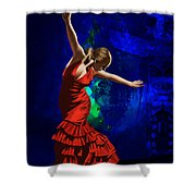Flamenco Dancer 014 Shower Curtain by Catf