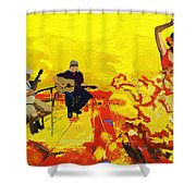 Flamenco Dancer 018 Shower Curtain by Catf