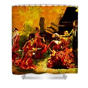Flamenco Dancer 020 Shower Curtain by Catf