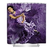 Flamenco Dancer 023 Shower Curtain by Catf