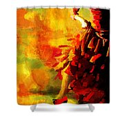 Flamenco Dancer 026 Shower Curtain by Catf