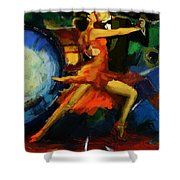 Flamenco Dancer 029 Shower Curtain by Catf