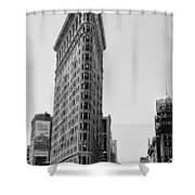 Flat Iron in Black and White Shower Curtain by Bill Cannon