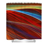 Flaunting Colors Shower Curtain by Lourry Legarde