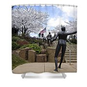 Fleeting Spring At The Arena Shower Curtain by Daniel Hagerman