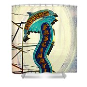 Flippers Facination - Wildwood Boardwalk Shower Curtain by Bill Cannon