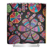 Floating Pebels Shower Curtain by M Ande