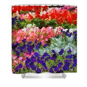 Floral Fantasy Shower Curtain by Dan Sproul