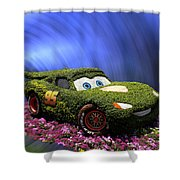 Floral Lightning Mcqueen Shower Curtain by Thomas Woolworth