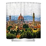 Florence Impasto Shower Curtain by Steve Harrington