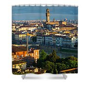 Florence Panorama Shower Curtain by Inge Johnsson