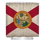Florida State Flag Shower Curtain by Pixel Chimp