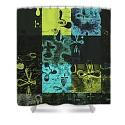 Florus Pokus A02 Shower Curtain by Variance Collections