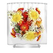 Flower Bouquet Shower Curtain by Elena Elisseeva