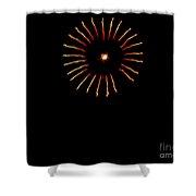 Flower Fireworks Shower Curtain by Robert Bales