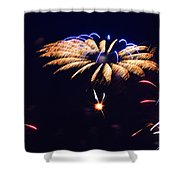 Flower Fireworks Shower Curtain by Sandi OReilly